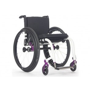 TiLite ZRA Series II - Silla de ruedas de chasis rígido de titanio mono tubo
