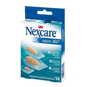 Tiritas plástico Nexcare Aqua 360 14 unid (surtidas)