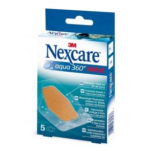 Tiritas plástico Nexcare Aqua 360 Maxi 5 unid