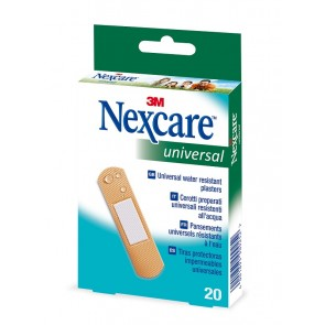 Tiritas plástico Nexcare universal 20 unid (19x76mm)