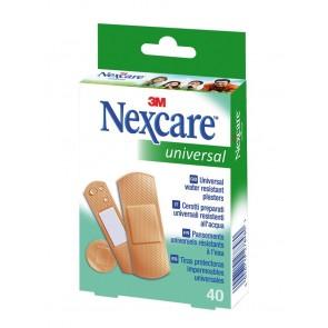 Tiritas plástico Nexcare universal 40 unid (surtidas)