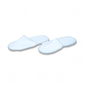 Zapatilla cerrada blanca. Bolsa 10 pares