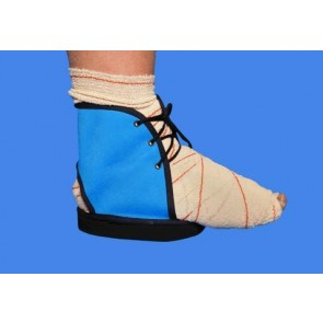 Zapatilla de postoperatorio Pedic azul corta
