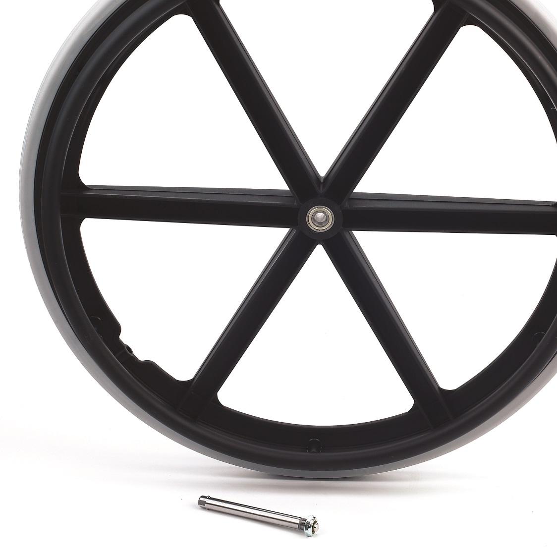 Eje de desmontaje rápido para las ruedas traseras