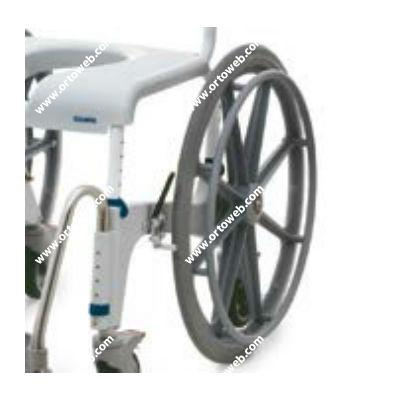 """Kit de 2 ruedas de 24"""", con porta ejes y frenos Aquatec Ocean Ergo"""