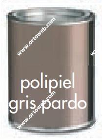 polipiel gris pardo