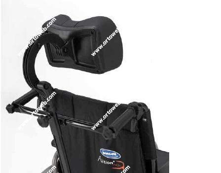 Invacare action 3 ng silla de ruedas de aluminio plegable ortoweb - Reposacabezas silla de ruedas ...