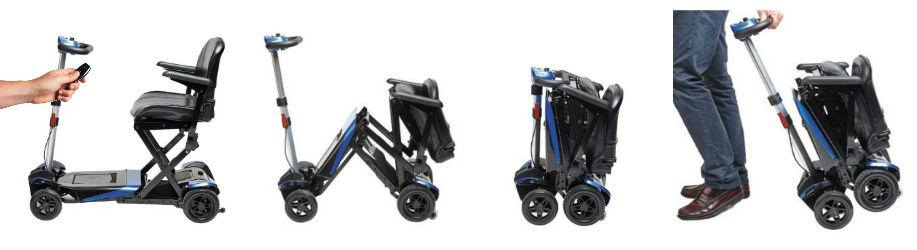 Scooter I-Transformer con plegado eléctrico y baterias de litio