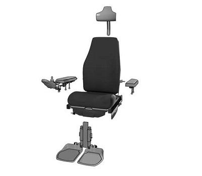 asiento fabricado en modulos