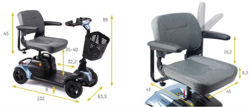 scooter-apex-i-nano-desmontable-dimensiones