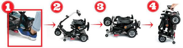scooter ibrio plus - facil plegado